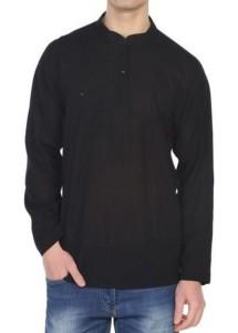 Şile Bezi Gömlek (Siyah)